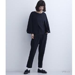 メルロー(merlot)の今季新作♡*メルロー パンツドレス Lサイズ 黒(スーツ)