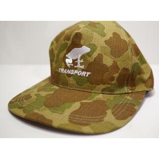 トランスポート(TRANSPORT)のTRANSPORT 迷彩キャップ(キャップ)