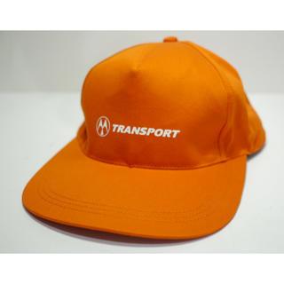 トランスポート(TRANSPORT)のTRANSPORT キャップ ほぼ未使用 オレンジ(キャップ)
