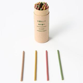 無印良品 お香セット・和の香り 各8本×4種類 ヒャクダン ひのき シャクヤク (お香/香炉)