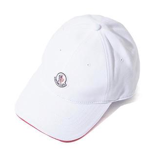 モンクレール(MONCLER)のMONCLER(モンクレール)  キャップ 帽子 新品 ホワイト フリー(キャップ)