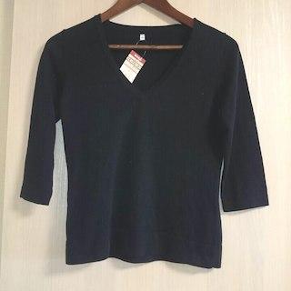 ムジルシリョウヒン(MUJI (無印良品))の新品 無印良品 春夏物 Vネックセーター(ニット/セーター)