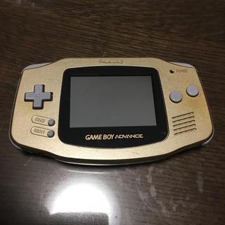 ゲームボーイアドバンス(ゲームボーイアドバンス)のゲームボーイ アドバンス GOLD 本体(携帯用ゲーム機本体)