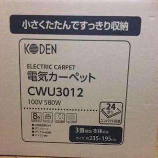 KODEN 電気カーペット3畳  本体のみCWU3012