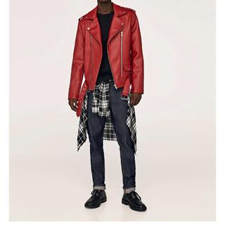 ザラ(ZARA)のfaux leather biker jacket レザージャケット(レザージャケット)
