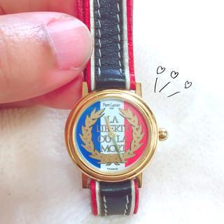 ピエールラニエ(Pierre Lannier)の【Pierre Lannier】フランス製トリコロール腕時計(腕時計)