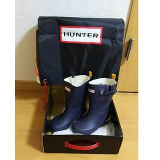 ハンター(HUNTER)のYuko Aoki様専用☆HUNTER ☆キッズ長靴 ネイビー16cm 新品(長靴/レインシューズ)