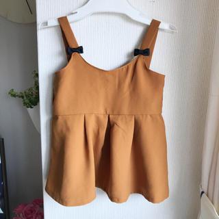 シマムラ(しまむら)のしまむら♡キャメルビスチェ 100(Tシャツ/カットソー)