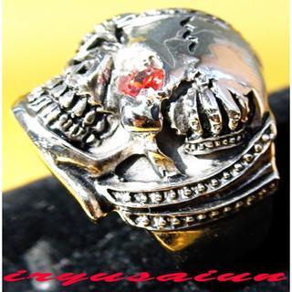 赤海賊 髑髏 スカルリング(20号) メンズ指輪 新品 激安価額 UL013(リング(指輪))