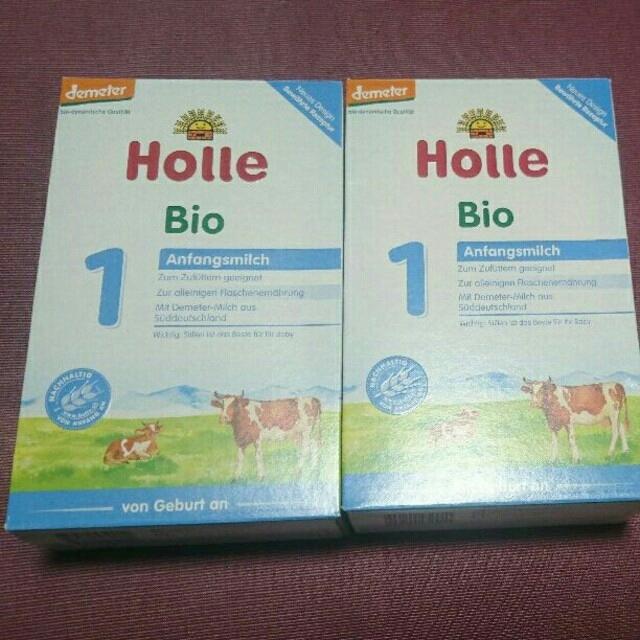 【新品未開封】二個セット holle ホレ オーガニック 粉ミルク step1 キッズ/ベビー/マタニティの授乳/お食事用品(その他)の商品写真