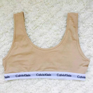 カルバンクライン(Calvin Klein)のCalvin Klein カルバンクライン 下着 ブラトップ ライトベージュ☆(ブラ)
