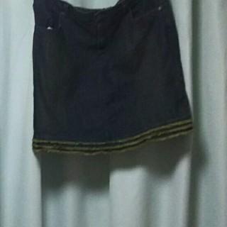 ニッセン(ニッセン)の3L デニムスカート、キャミソール2枚セット(セット/コーデ)