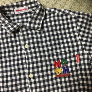ミキハウス(mikihouse)のミキハウス   1枚あると便利  チェックシャツ  男の子 120(ジャケット/上着)