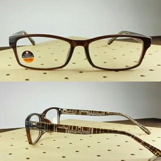 度数が選べる!おしゃれなシニアグラス(老眼鏡セット) TR9075 ブラウン(サングラス/メガネ)