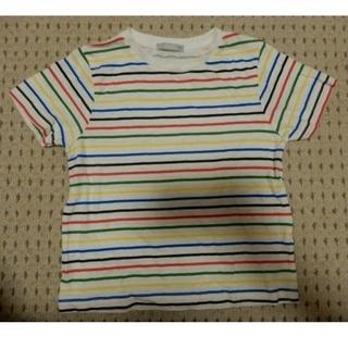 ジーユー(GU)の最終値下げ!GU(ジーユー)マルチカラー?カラフルボーダーの半袖Tシャツ/110(Tシャツ/カットソー)