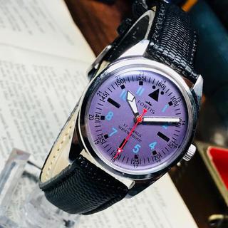 フォルティス(FORTIS)の80's Vint. FORTIS 手巻きメンズウォッチ OH済 Mパープルや(腕時計(アナログ))