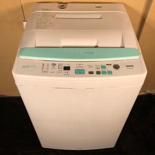 サンヨー(SANYO)のSANYO 7.0kg 風乾燥機能付き洗濯機 ASW-70BP(洗濯機)