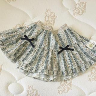 クーラクール(coeur a coeur)の1回着 クーラクール リボンつき たっぷりフレアのスカート グリーン(スカート)