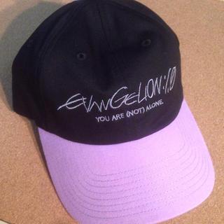 ジーユー(GU)のgu×エヴァンゲリオン キャップ 黒×紫 新品 初号機カラー(キャップ)