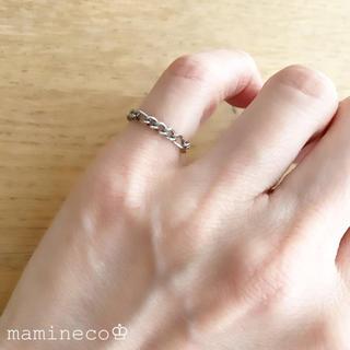 1号サイズ ステンレス製 チェーンリング フィガロチェーン 幅2.8mm(リング(指輪))