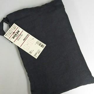 ムジルシリョウヒン(MUJI (無印良品))の新品 無印良品 麻 割烹着・墨黒(収納/キッチン雑貨)