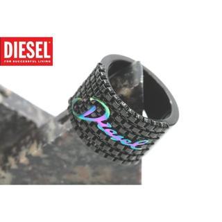 ディーゼル(DIESEL)のディーゼル ロゴ リング 指輪 14号 黒 ブラック DX0346-7(リング(指輪))