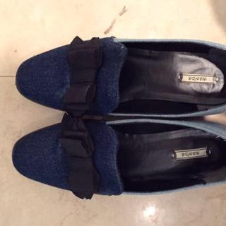 ランダ(RANDA)のRANDAデニムローファー24cm(ローファー/革靴)