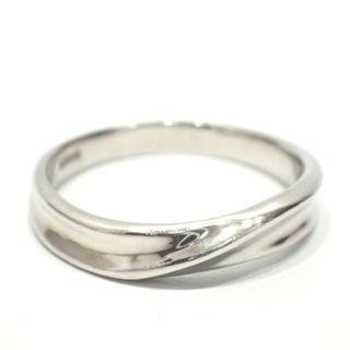 E51 K18 ホワイトゴールド WG リング 指輪 アクセサリ 13号 3.4(リング(指輪))