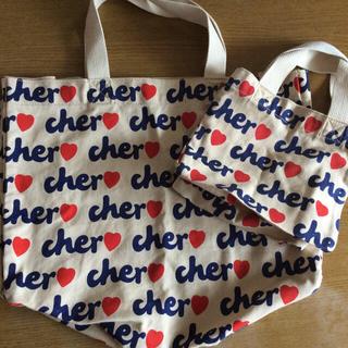 シェル(Cher)の★used★cher トートバッグ 大小2個セット シェル(トートバッグ)