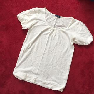 プーラフリーム(pour la frime)の☆同梱250円☆pour la frime 半袖Tシャツ 白  ドット(Tシャツ(半袖/袖なし))