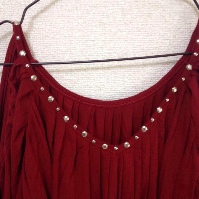 Durer(デュレル)の深赤 ✾ カットソー レディースのトップス(カットソー(長袖/七分))の商品写真