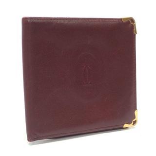 カルティエ(Cartier)のA446 中古 カルティエ マストライン ボルドー お札入れ ウォレット(折り財布)