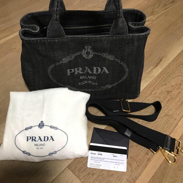 35e63b772ea4 PRADA - プラダ カナパ デニム NEROの通販 by saki's shop|プラダならラクマ