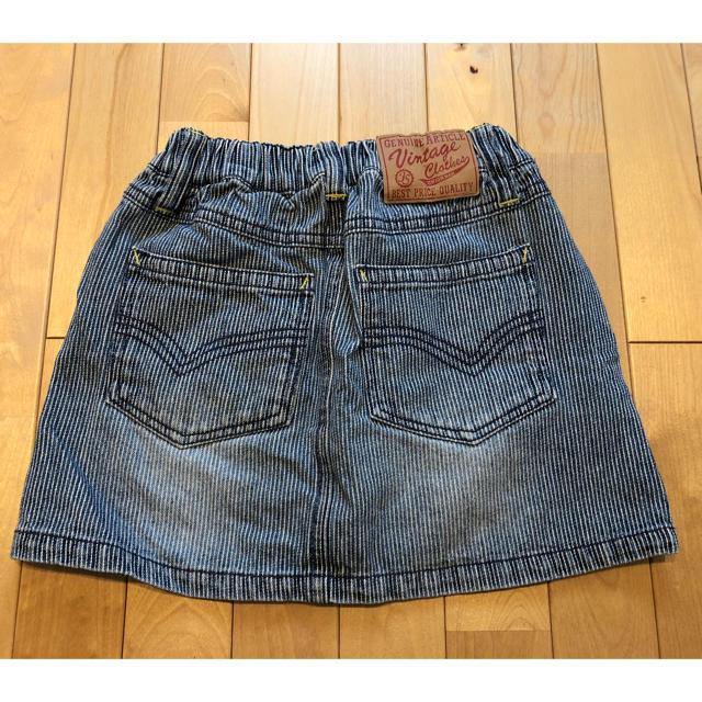 BREEZE(ブリーズ)の女の子 デニムスカート 120 キッズ/ベビー/マタニティのキッズ服 女の子用(90cm~)(スカート)の商品写真