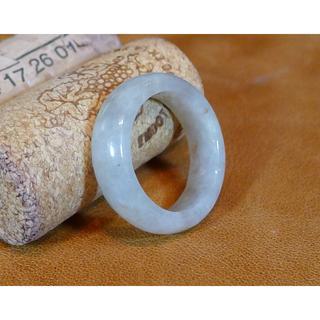 J355 ヒスイ翡翠リング指輪 20.5号 ジェイド ライトグリーン 送料無料(リング(指輪))