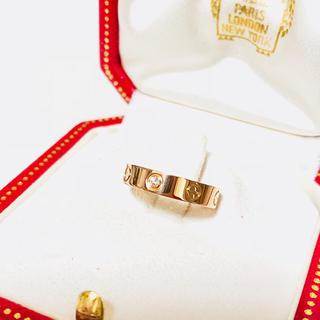 カルティエ(Cartier)のカルティエ ダイヤ ラブリング  PG ピンクゴールド 50号 箱付き 新品同様(リング(指輪))
