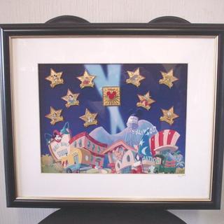 ディズニー(Disney)の☆25日までの限定価格☆2000年 ミレニアムミッキー フレームピンバッチセット(絵画/タペストリー)