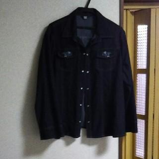 シマムラ(しまむら)の大きいサイズ  黒デニムジャケット(Gジャン/デニムジャケット)