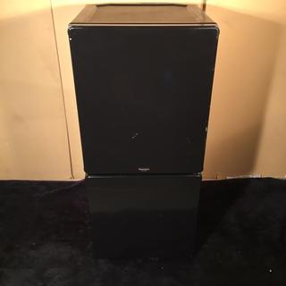 2012年製 MORITA 110L 2ドア冷凍冷蔵庫 ブラック(冷蔵庫)