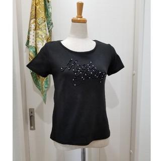 販売終了‼新品同様、U.N.S 黒パールデザインTシャツ(Tシャツ(半袖/袖なし))