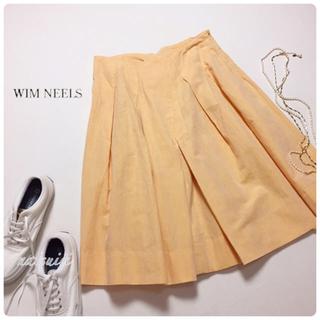 ウィムニールス(WIM NEELS)のWIM NEELS . リネン混 綿麻 フレア スカート(ひざ丈スカート)