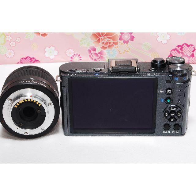 PENTAX(ペンタックス)のWi-Fi転送可★ワインレッドカラー☆PENTAX Q-S1 レンズセット スマホ/家電/カメラのカメラ(ミラーレス一眼)の商品写真