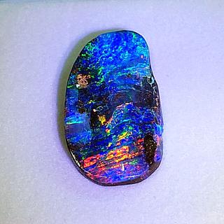 《宝石⚜️ルース》特大✴️極美✨天然ボルダーオパール 15.048ct 鑑付。(リング(指輪))
