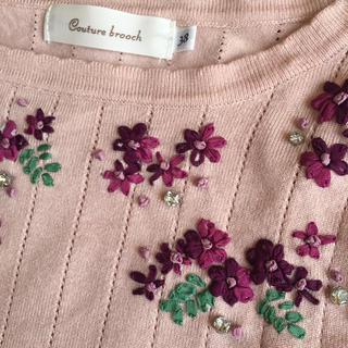 クチュールブローチ(Couture Brooch)のかおり様専用♡クチュールブローチ*花刺繍モチーフ*トップス(カットソー(長袖/七分))