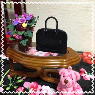 ミニチュア ドール バッグ LV- Black(ミニチュア)