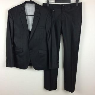 テットオム(TETE HOMME)の新品同様品 テットオム セットアップスーツ 薄手 ブラック光沢 サイズ4(セットアップ)