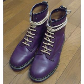 ドクターマーチン(Dr.Martens)のDr.Martens ドクターマーチン 紫 パープル UK8(ブーツ)