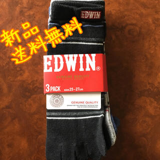 エドウィン(EDWIN)の【新品】EDWIN 3足3カラー 5本指靴下 くるぶし丈 25-27cm(ソックス)