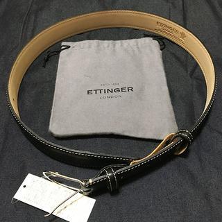 エッティンガー(ETTINGER)のETTINGER レザーベルト 試着のみ未使用品(ベルト)