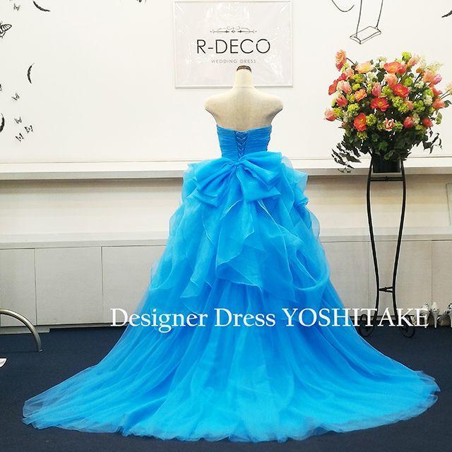 ウエディングドレス(パニエ無料サービス) スカイプルー/披露宴 レディースのフォーマル/ドレス(ウェディングドレス)の商品写真